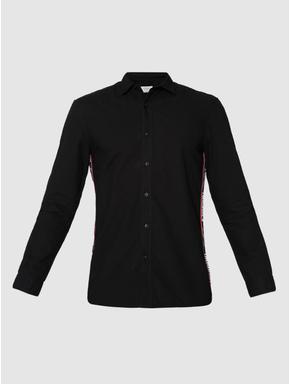 Black Side Tape Full Sleeves Shirt