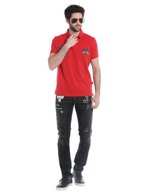 Chicago Bulls Black Slim Fit Jeans NBA