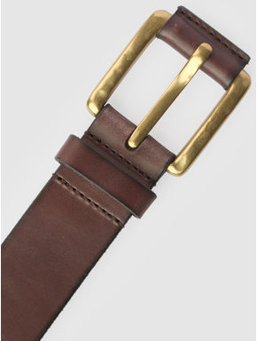 Chocolate Brown Leather Belt