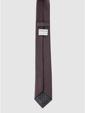 Purple and Grey Striped Tie
