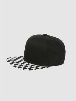Black Checks Cap