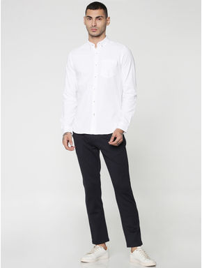 White Slim Fit Full Sleeves Shirt