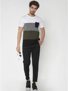Black Check Drawstring Pants