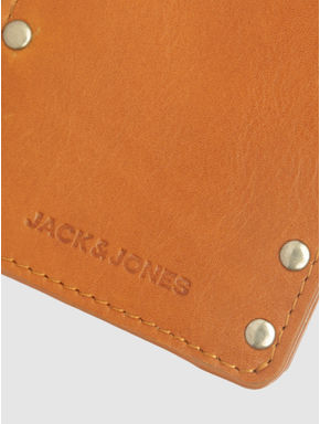 Tan Studded Leather Wallet