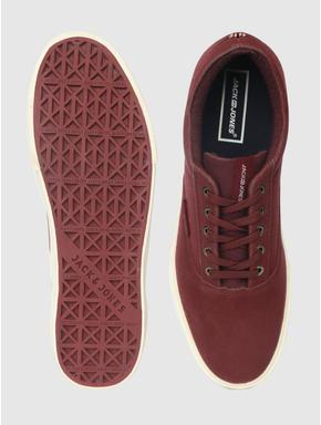 Maroon Suede Sneakers