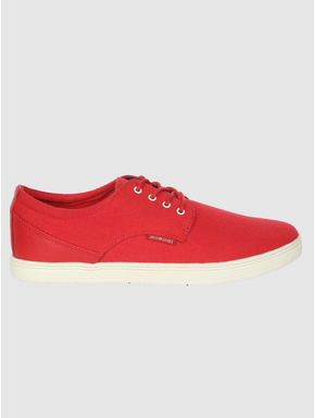 Red Lace Up Sneakers