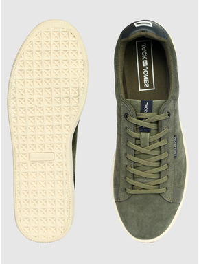 Green Leather Sneakers