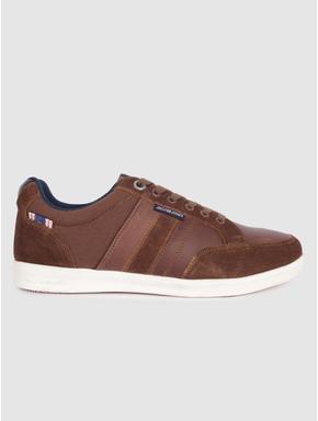 Brown Suede Detail Sneakers