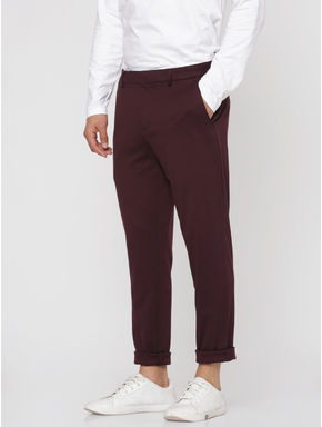 Burgundy Slim Fit Trousers