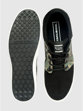 Black Camo Detail Sneakers