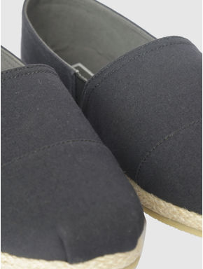 Black Slip On Espadrilles