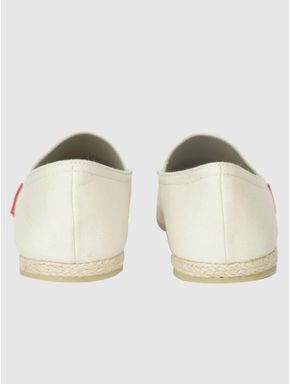 White Slip On Espadrilles