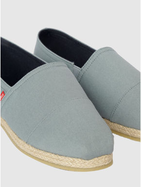 Light Grey Slip On Espadrilles