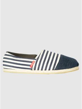 Blue Striped Slip On Espadrilles
