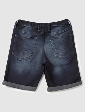 Junior Dark Blue Low Rise Elasticated Waist Rick Denim Shorts