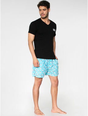 Light Blue All Over Paper Roll Graphic Print Boxers
