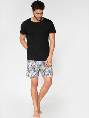 Black All Over Abstract Print Boxers