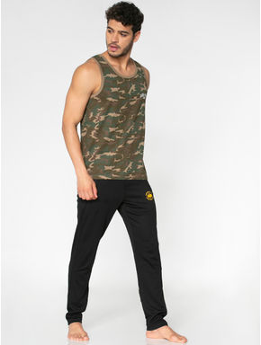 Green All Over Camo Print Vest