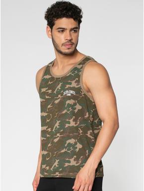 Green All Over Camo Print Vest