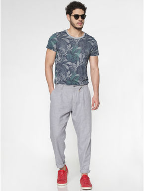 Grey Regular Fit Pants