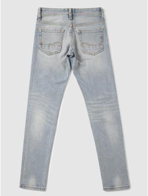 Junior Light Blue Low Rise Washed Ben Skinny Fit Jeans