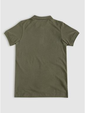 Junior Green Polo Neck T-shirt