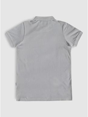 Junior Grey Polo Neck T-shirt