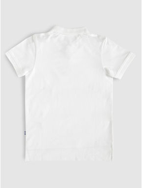 Junior White Polo Neck T-shirt