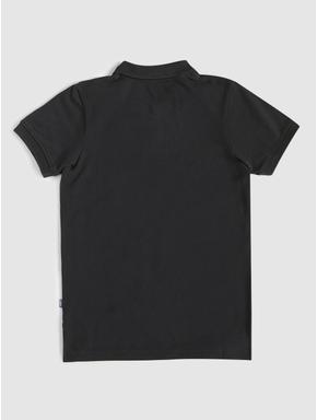 Junior Black Polo Neck T-shirt