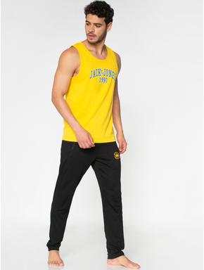 Yellow Text Print Vest