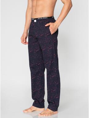 Navy Blue Checks Print Pyjama