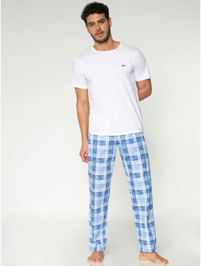 Blue Checks Print Pyjama