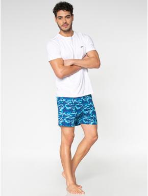 Blue Camo Print Boxers