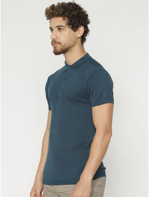 Teal Polo Neck T-shirt
