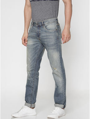 Blue Faded Tim Slim Fit Jeans
