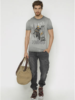 Grey Faded Erik Anti Fit Jeans