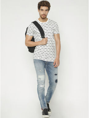 Blue Ripped Glenn Slim Fit Jeans