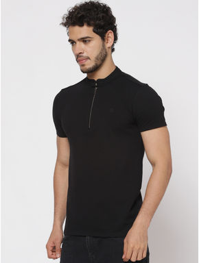 Black Polo Neck T-shirt