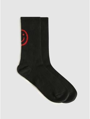 Pack of Three Mid Calf Length Socks - White, Black, White & Black