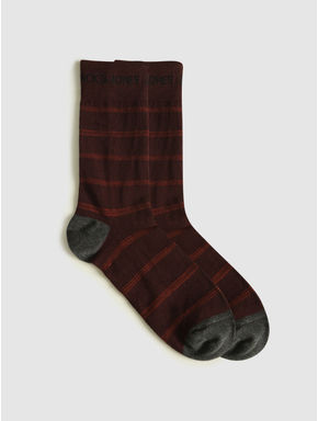 Pack of Three Mid Calf Length Socks - Red, Green, Blue