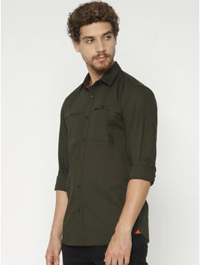 Green Full Sleeves Shirt