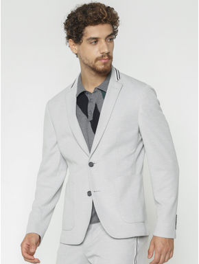Grey Slim Fit Blazer