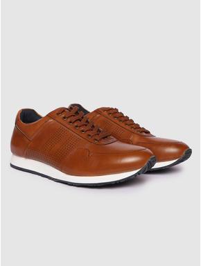 Dark Brown Perforated Sneakers