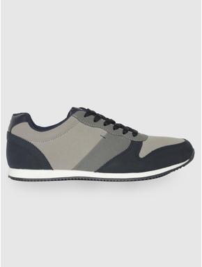 Blue Camo Print Sneakers