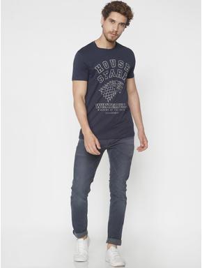 X GOT Blue House Stark Crew Neck T-shirt