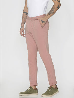 Pink Slim Fit Pants