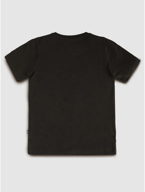 Junior Black Graphic Print T-shirt