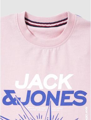 Junior Pink Typographic Print Crew Neck T-shirt