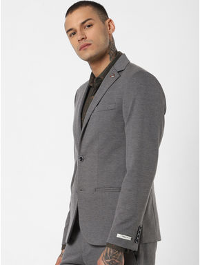 Grey Double Button Blazer