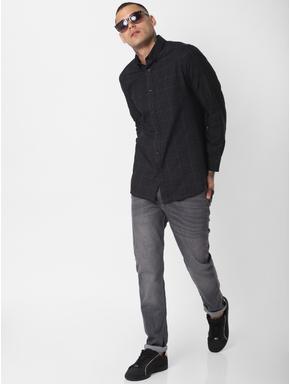 Black Check Full Sleeves Shirt